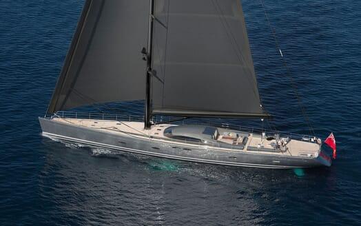Sailing Yacht MIRASOL Rear Quarter Rendering