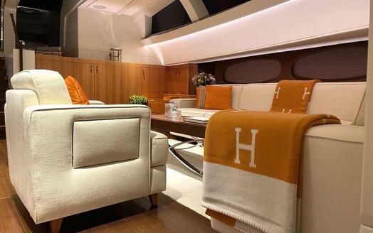 Sailing Yacht MIRASOL Main Saloon and Dining Table