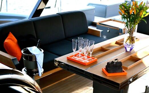 Sailing Yacht MIRASOL On Deck Saloon Rendering