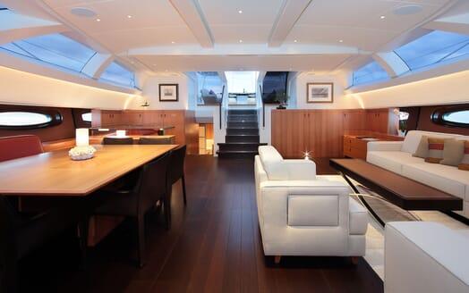 Sailing Yacht MIRASOL Walkway and Ladder