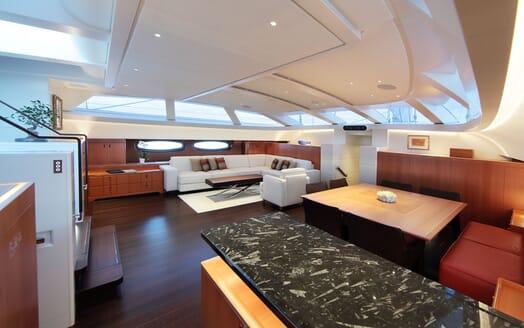 Sailing Yacht MIRASOL Stairs to Main Saloon
