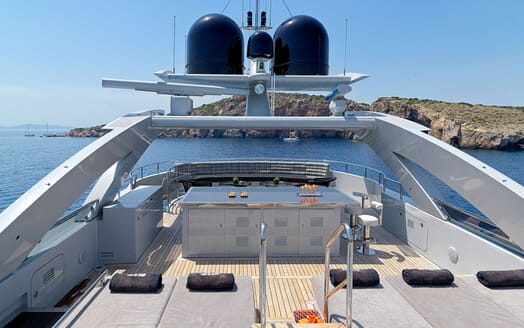 Motor Yacht BLISS Sun Deck Bow