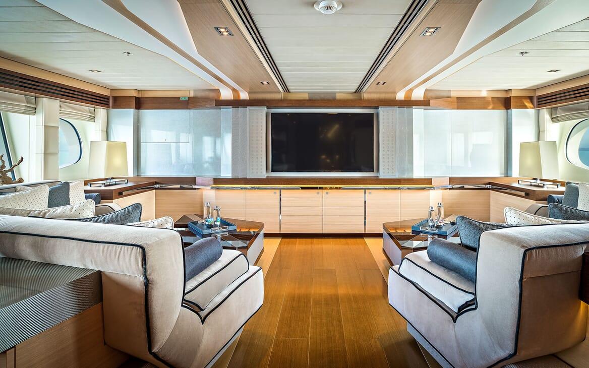 Motor Yacht ODYSSEA Cinema Room