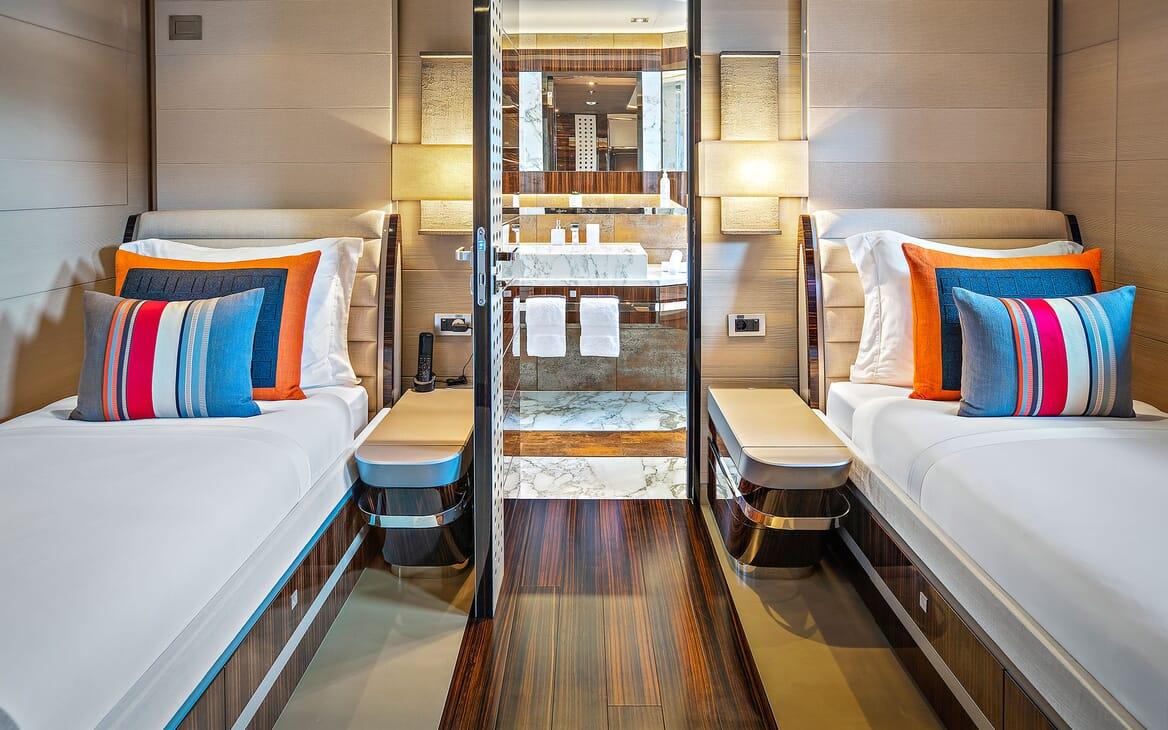Motor Yacht ODYSSEA Twin Guest Stateroom