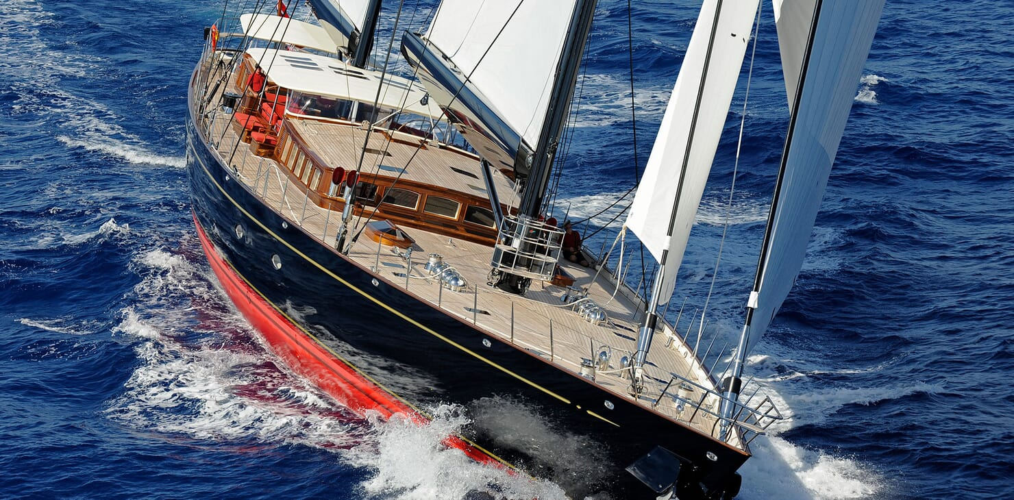 Sailing Yacht MARIE Profile Underway