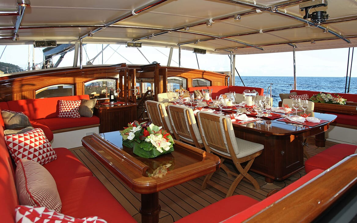 Sailing Yacht MARIE Al Fresco Dining
