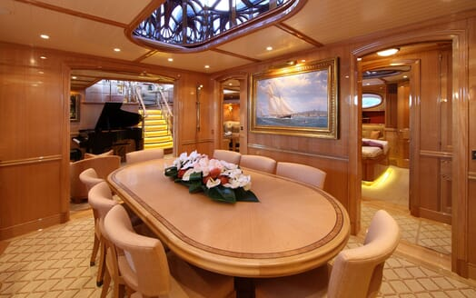 Sailing Yacht MARIE Dining Table