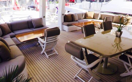 Motor yacht Costa Magna main deck