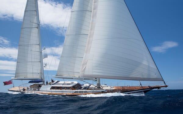 Sailing Yacht Infatuation sailing