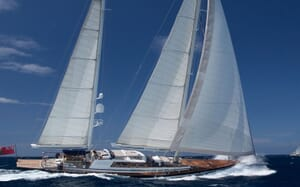 Sailing Yacht Infatuation cruising