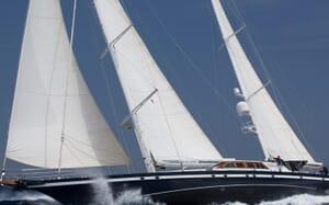 Sailing Yacht Infatuation underway