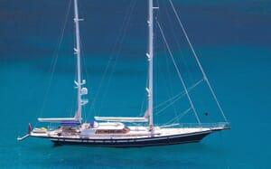 Sailing Yacht Infatuation anchored