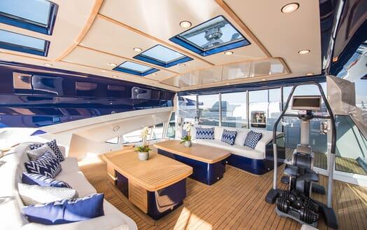 Motor Yacht Siren Sun Deck Exercise