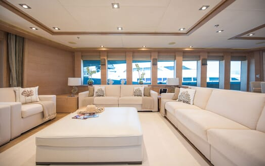 Motor Yacht Siren Main Saloon Window View