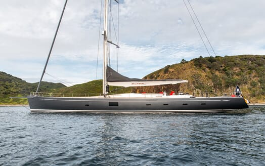 Sailing Yacht SILVERTIP Side On