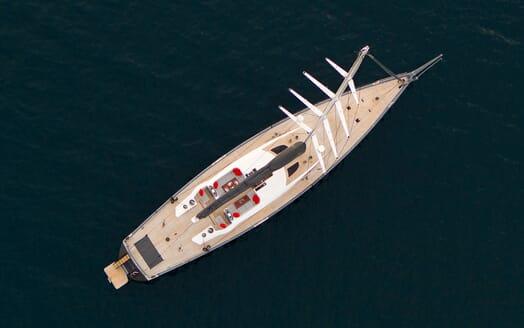Sailing Yacht SILVERTIP Aeiral View
