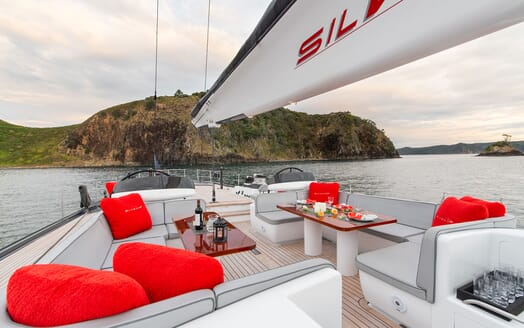 Sailing Yacht SILVERTIP Deck Al Fresco Dining