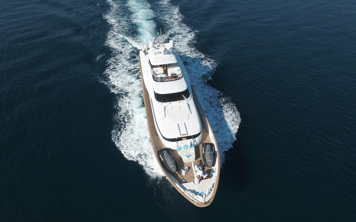 Motor Yacht Tuscan Sun aerial