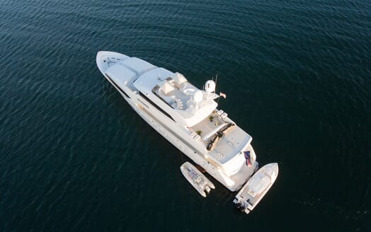 Motor Yachts INVISION Aerial View