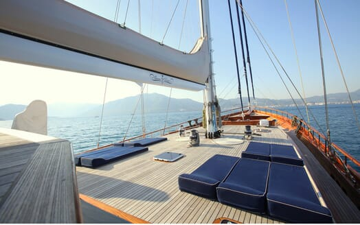 Sailing Yacht Queen of Datca foredeck