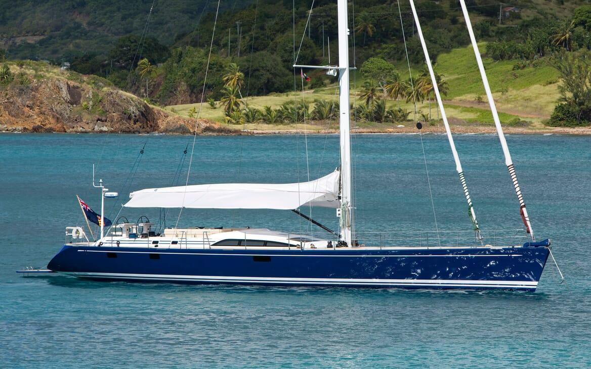 Sailing Yacht ANANDA Side On
