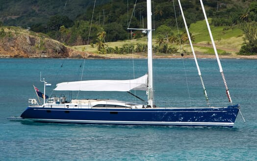Sailing Yacht ANANDA Side On