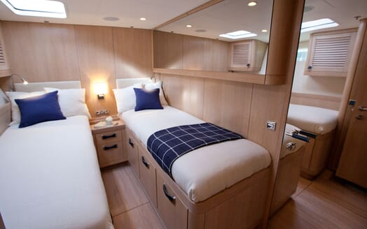Sailing Yacht ANANDA Guest Twin Stateroom