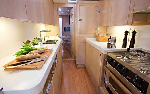 Sailing Yacht ANANDA Galley