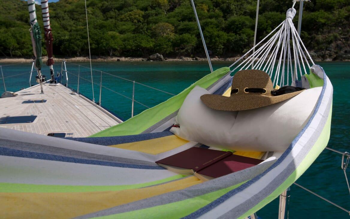 Sailing Yacht ANANDA Deck Hammock