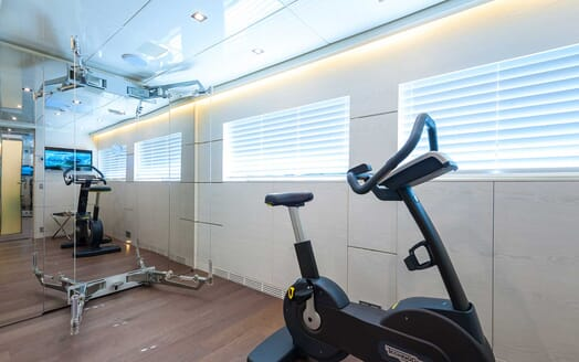 Motor Yacht Entourage gym