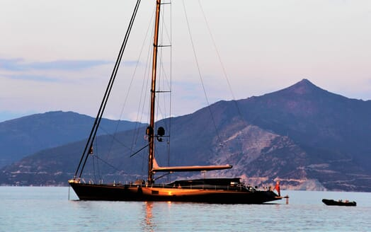 Sailing Yacht Zalmon anchored