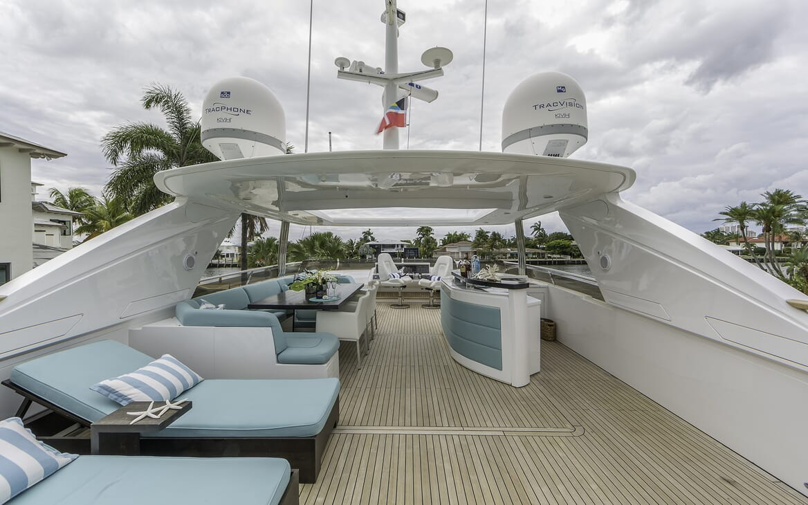 Motor Yacht Cristobal sun loungers