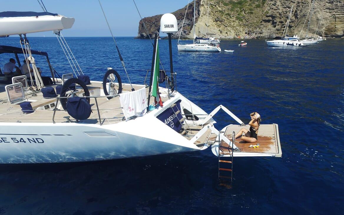 Sailing Yacht Adesso swimming platform