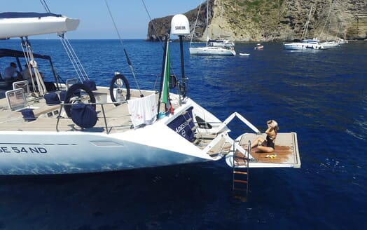 Sailing Yacht Adesso swimming platform
