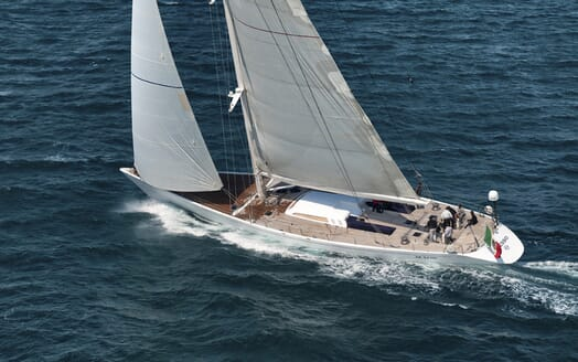 Sailing Yacht Adesso underway