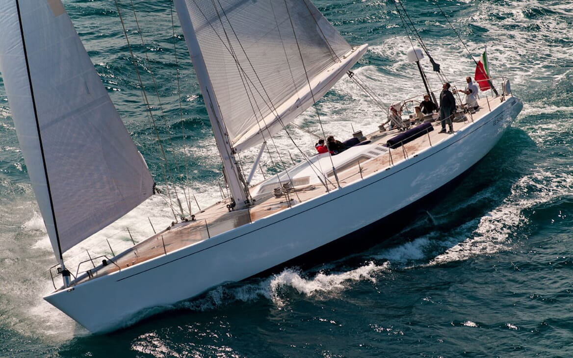 Sailing Yacht Adesso aerial