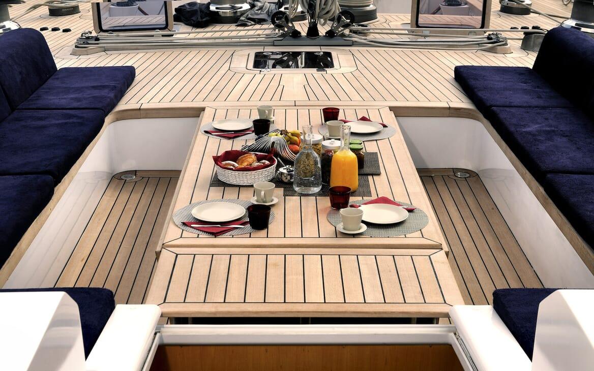 Sailing Yacht Adesso cockpit
