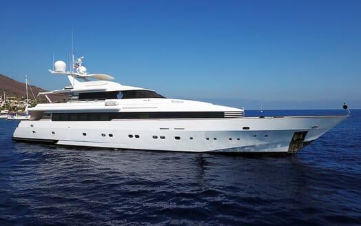 Motor Yacht Indigo Star I Side on Profile