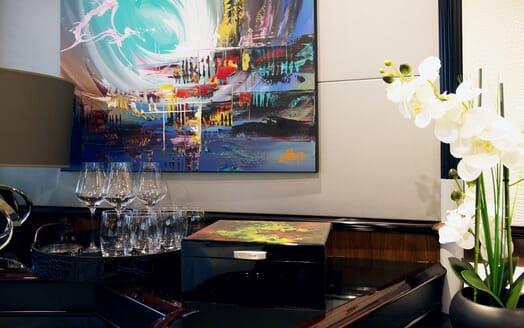 Motor Yacht Indigo Star I Dining Room Detail