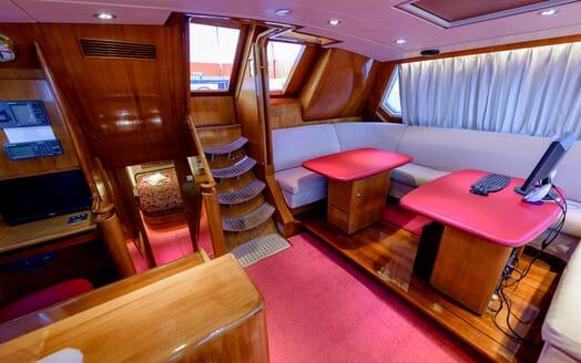 Sailing Yacht Scorpius sky  lounge