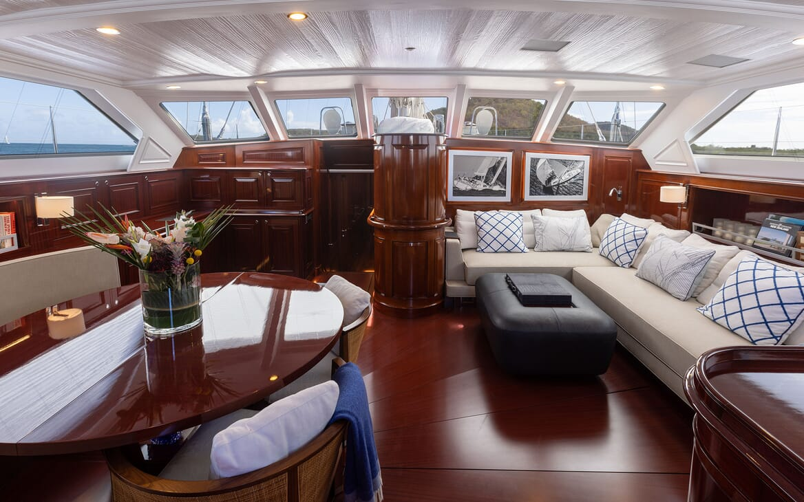 Sailing Yacht Cavallo living area