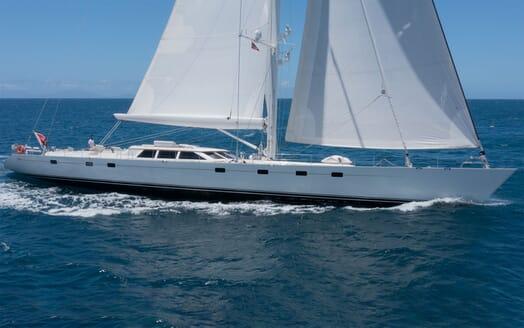 Sailing Yacht Cavallo anchored