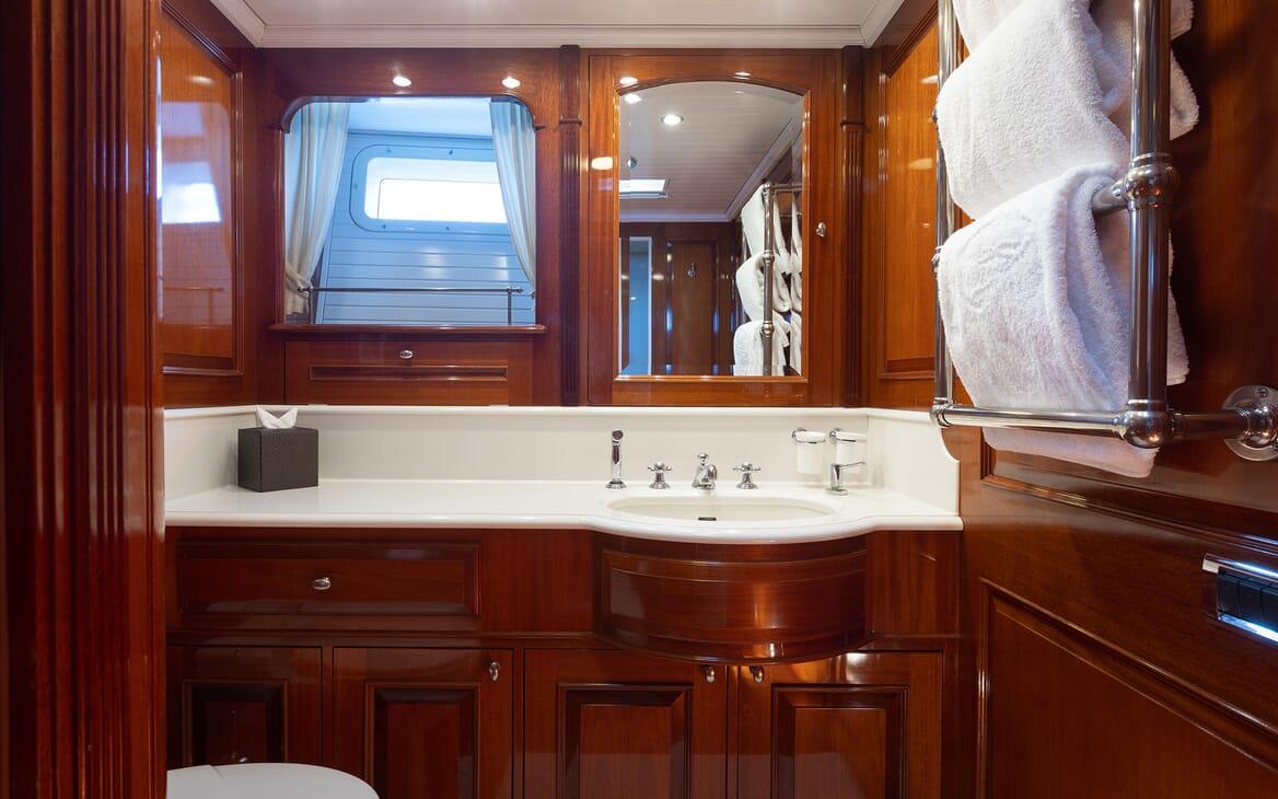 Sailing Yacht Cavallo aerial
