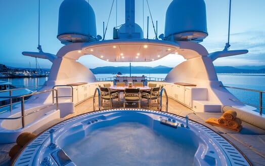Motor Yacht Magenta M main deck