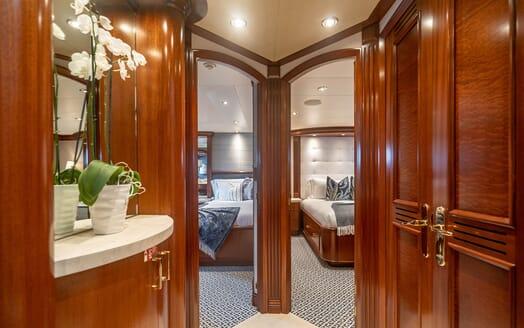 Motor Yacht RISK & REWARD Stateroom Hallway