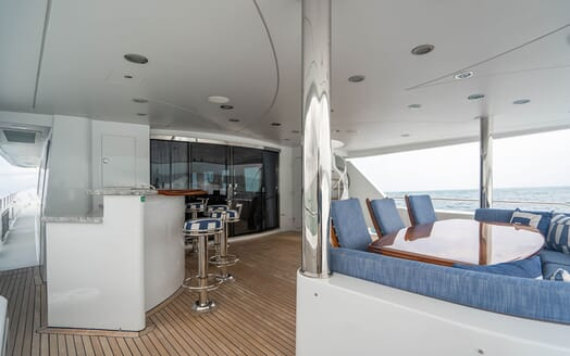 Motor Yacht RISK & REWARD Main Aft Deck