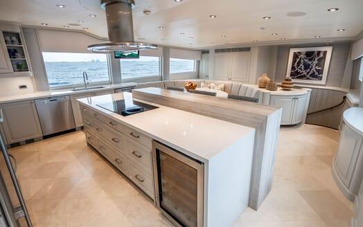 Motor Yacht RISK & REWARD Galley