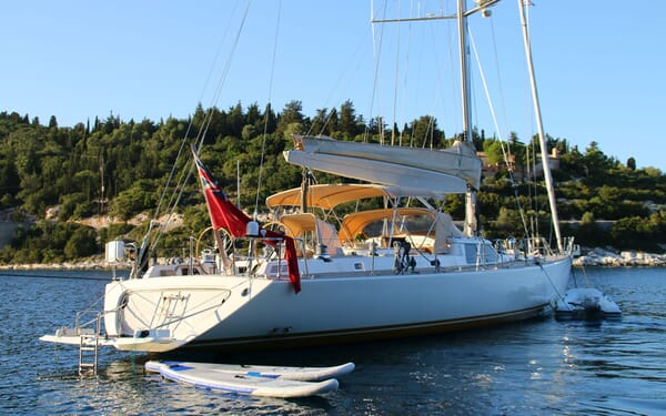 Sailing Yacht CAMILLA OF LONDON Profile with Toys