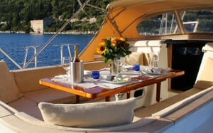 Sailing Yacht CAMILLA OF LONDON Dining Table