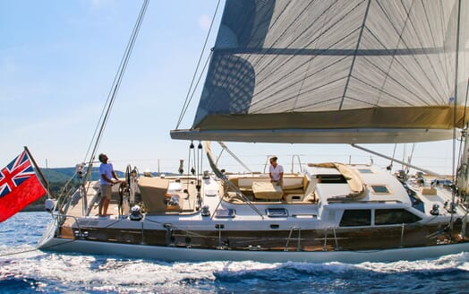 Sailing Yacht CAMILLA OF LONDON Underway Side On